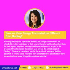 How are these Energy Transmissions different from Healing? Healing, Life, Recovery