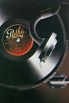 A.M. Cassandre. Pathé, l'enregistrement électrique le plus perfectionné.