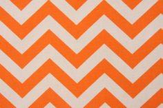 Premier Prints Zig Zag- Natural Drapery Fabric in Mandarin $7.48 per yard