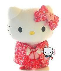 kimono hello kitty sitting - Google Search