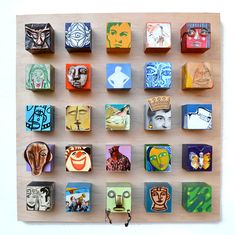 Blockheads, by Elizabeth Rosen. #reclaimed #salvaged #wood