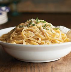 Want to splurge? This Lemon and Garlic Pasta from Seasons is to die for! Simple and delicious.