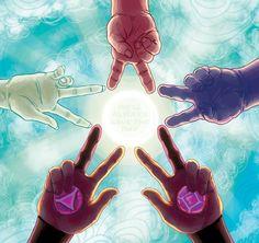 Somos.. ¡Las Gemas de Cris- Tal! We... ¡Are the Crystal Gems!