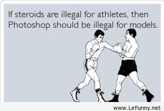 An image that shows support for steroids in sports because other professions have advantages too.