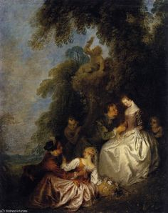 'Conversation galante' by Jean-Baptiste Pater (1695-1736, France)