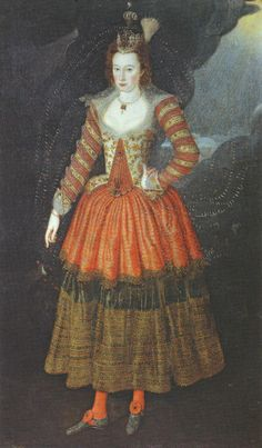 Elizabeth Manners, Countess of Rutland, costume designed by Inigo Jones