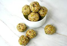 This Pistachio Sesame Seed Energy Ball recipe is so tasty and great for on the go! Plus....more on why you should be eating pistachios. (new blog post and healthy recipe)