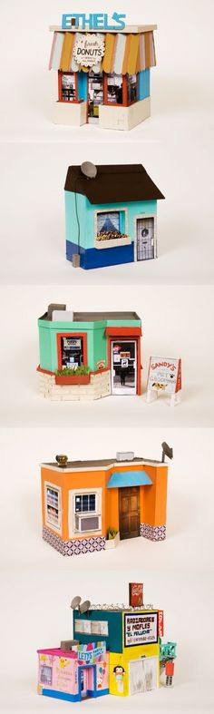 Handmade buildings out of carboard by the amazing artist Ana Serrano