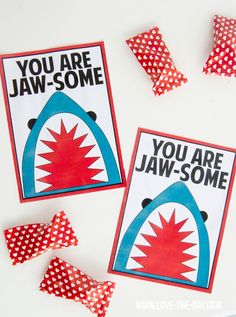 Shark-Themed Free Valentine PRINTABLES by MichaelsMakers  Love The Day