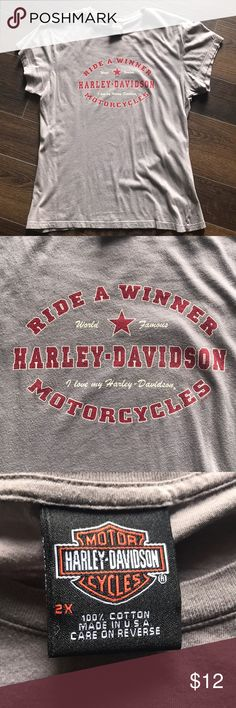 """Harley Davidson """"Ride A Winner"""" shirt, women's XXL 💋 🏍 HD Ride A Winner T-shirt from Harley Davidson of Fort Myers, Florida 🏍 💋 EUC...worn and washed once! 💨 free 🏠  Super soft! Harley-Davidson Tops Tees - Short Sleeve"""