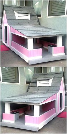 The pets are lovely and when they are taken home, they should be treated as a family member; so we have added an idea for creating a reclaimed wood pallet dog bed house which has a space for sitting as well as sleeping comfortably. It is good for a female dog because of its soft pink color.