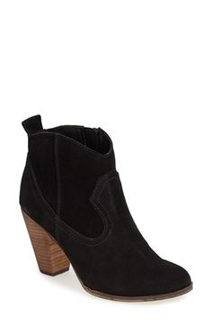 Free shipping and returns on Steve Madden 'Plover' Bootie (Women) at Nordstrom.com. A chunky stacked heel with a woodgrain finish furthers the Western vibe of a shapely suede bootie outfitted with a pull tab in back for easy entry. Stay a step ahead in Steve Madden's trend-leading styles and easy-to-wear silhouettes. Inspired by rock and roll and fused with a jolt of urban edge, Madden creates products that are innovative, sometimes wild and always spot-on-chic.