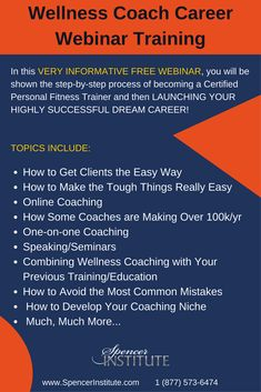 You are in the right place to start and advance your wellness coaching career, so you can help more people enhance their health, vitality, energy and overall happiness.  You will also discover how to improve your lifestyle by creating a coaching practice which lets you coach anywhere while helping people locally, nationally or even globally!