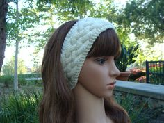 Knitting pattern knotty cable head warmer headband baby child pattern 120 cable knit headband knit hairband knit hair accessory ear dt1010fo