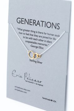 Generations+Necklace.+Family.+Sisters.+Mother.+by+erinpelicano