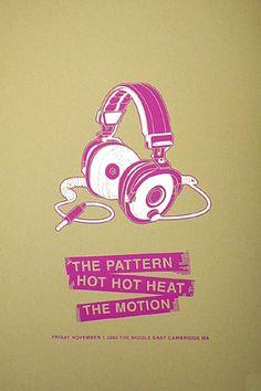 Hot Hot Heat Music Poster. #giposters #musicart #concerts http://www.pinterest.com/TheHitman14/music-poster-art-%2B/