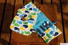 El blog de Bebelulua: Colección de estuches para cubiertos con babero