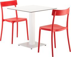 Uutuus! Kevyt ja siro Argo-tuoli ja Cocktail-pöytä ovat yhdessä täydellinen setti! Tuolin värivaihtoehdot punainen, sininen, musta ja valkoinen. ISKU