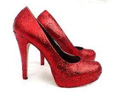 Red Glitter Heels....