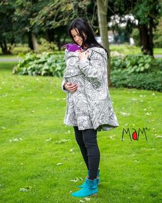 Pregnancy and babywearing poncho Pregnancy Gifts, Baby Wearing, Paisley, Tunic Tops, Collection, Gift Ideas, Women, Fashion, Moda