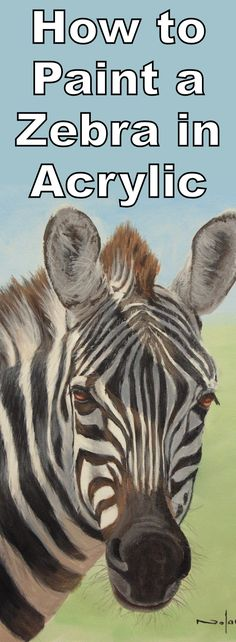 Learn how to paint a zebra in this free online art lesson