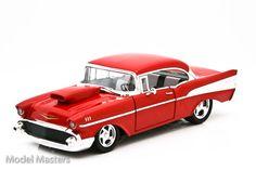Custom+Diecast+Cars   Diecast 1957 Red Chevrolet Custom Diecast Model Car