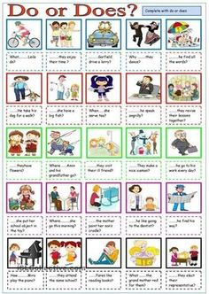 English ESL worksheets, activities for distance learning and physical classrooms English Grammar Worksheets, English Verbs, Kids English, English Resources, English Activities, Grammar Lessons, English Lessons, English Vocabulary, Learn English