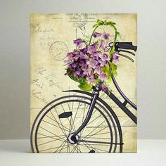 Bicycle Pictures, Bicycle Decor, Bicycle Print, Watercolor Sketch, Painted Paper, Simple Art, Mail Art, Belle Photo, Art Techniques