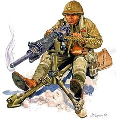 A Japanese army corporal mans a type 92