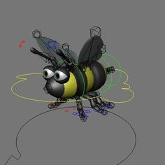 aint this a cute bee? Face Topology, Character Rigging, Cute Bee, Rigs, Maya, Insects, Animals, Ideas, Animales