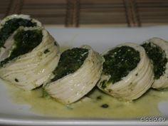 Involtini di tacchino con spinaci