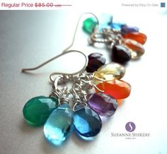 SALE ends 9/9 15 OFF Cluster earrings Prism by SueanneShirzay, $72.25