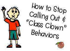 How to Stop Calling Out & Class Clown Behaviors - repinned by @PediaStaff – Please Visit ht.ly/63sNtfor all our pediatric therapy pins