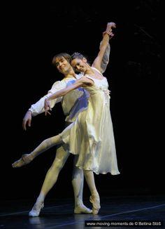 Polina Semionova and Friedemann Vogel in Romeo and Juliet (Chor. by John Cranko, Staatsballett Berlin 2012). Photo by Bettina Stöß