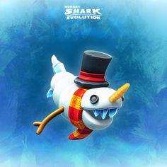 ☃️ Exclusive reward to Hungry Shark Evolution players during the Sharkmas 2018 Snowman Quest! Shark Facts For Kids, Megamouth Shark, Shark Games, Species Of Sharks, Shark Art, Reef Shark, Hammerhead Shark, Fantasy Monster, Great White Shark