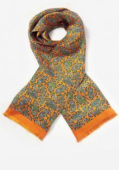 Krawattenschal Paisleymuster orange