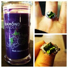 Diamond Candles- All natural soy candles with a ring inside! Once your candle melts away you're left with a ring worth $10, $100, $1,000 or $5,000! They're only $25 and would make GREAT gifts. :)
