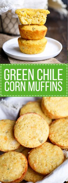 Best Green Chili Cheddar Corn Cake Or Corn Bread Recipe on Pinterest