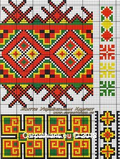 ru / Photo # 49 - Ukrainian embroidery (Carpathians) - valentinakp of Just Cross Stitch, Cross Stitch Bookmarks, Cross Stitch Borders, Cross Stitching, Cross Stitch Patterns, Tapestry Crochet Patterns, Bead Loom Patterns, Peyote Patterns, Fun Patterns