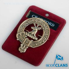 Crawford Clan Crest Cap Badge. Free worldwide shipping available