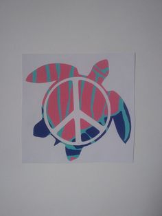 Turtle Peace Sign Decal, Pattern Decal, Tie Dye Decal by Adsforyou on Etsy Guns And Roses, Window Decals, Turtle, Tie Dye, Peace, Sign, Lettering, Unique Jewelry, Handmade Gifts