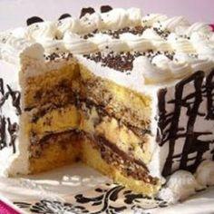 Dessert Cake Recipes, Sweet Desserts, Cupcake Recipes, Sweet Recipes, Baking Recipes, Torte Recepti, Kolaci I Torte, Posne Torte, Torta Recipe