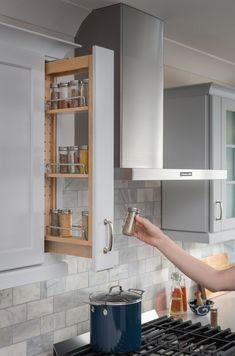 Kitchen Pantry Design, Diy Kitchen Storage, Diy Kitchen Cabinets, Modern Kitchen Design, Home Decor Kitchen, Interior Design Kitchen, Home Kitchens, Corner Cabinet Kitchen, Very Small Kitchen Design