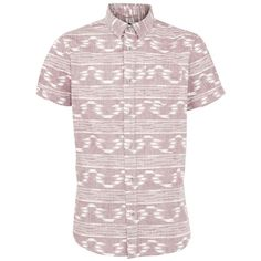 Red Aztec Stripe Short Sleeve Shirt ($23) via Polyvore