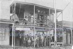 Prescott's Chinese community along Granite Street included a laundry with an upstairs Joss house for traditional religious services. This photo was taken about 1907.