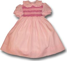 Dafne girl's smocked dress
