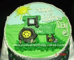 Tactor Cake: I made this tractor cake for a Father's Day celebration.  We were on a farm in St. Paul, Oregon, so I thought it would be fitting to put a tractor on the