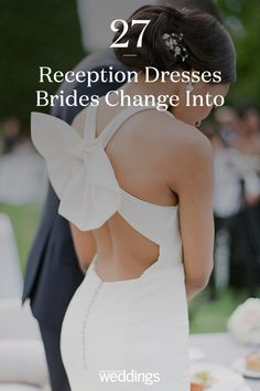 21 Reception Dresses Brides Changed Into for Their Parties Bride Reception Dresses, Second Wedding Dresses, Second Weddings, Wedding Dress Styles, Wedding Reception, Martha Stewart Weddings, Wedding Bride, Brides, Parties