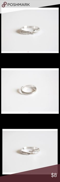 S925 Ring Open  Feather Leaf Joint Ring S925 Open  Feather Leaf Joint Ring Jewelry Rings