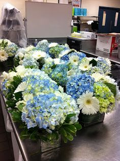 baby shower flower arrangement: boy theme